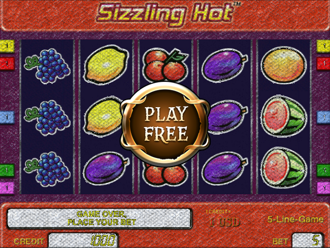 slot machine online games sizzling free games